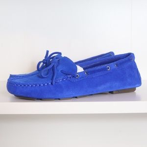 J.Crew Driving Moccasins Loafers Blue